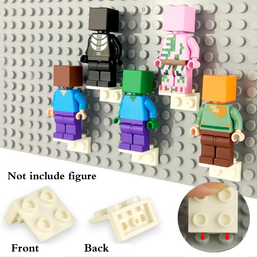 New LEGO Lot of 4 Red 1x2-2x2 Inverted Space Brackets Pieces