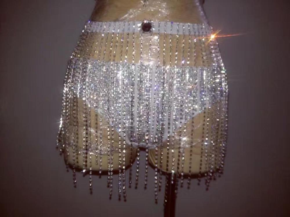 De Court Bikini Cristaux Costume Mode gorge Strass Usure Discothèque Sexy Chanteuse Glister Scène Performance Spectacle La Soutien wxYq00XRz