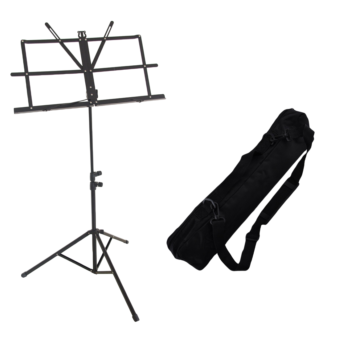 Foldable Sheet Music Tripod Stand Holder Adjustable Ultra-Light with Waterproof Carry Bag for Violin Guitar Musical Performance aluminium alloy professional fl 05r foldable small music stand musical instrument with double quilted carry bag 4 colors