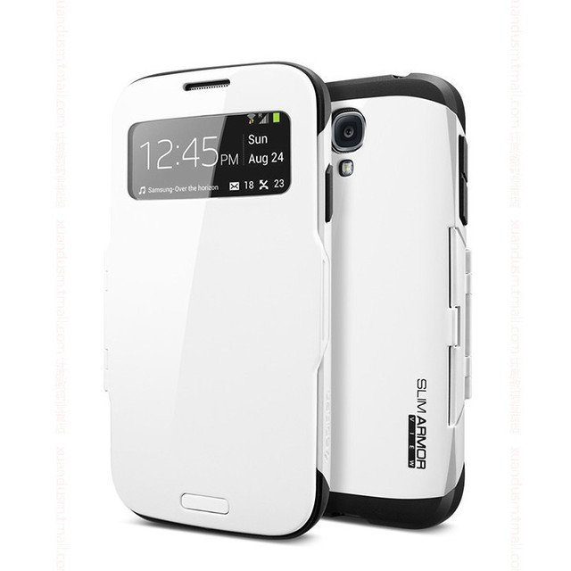 designer fashion 6e2c8 be059 US $6.99 |New SPIGEN SGP Slim Armor S View Automatic Slee / Wake Case For  Samsung Galaxy S4 SIV i9500 Phone Bag Flip Cover Cases Wholesale on ...
