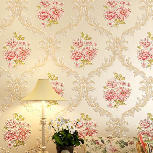 3D Relief 5 colours fiowes Bedroom/bedroom TV Background Wall Paper Home Decor Living Room Non-woven Mural Wallpaper