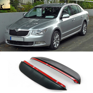 FOR Skoda Superb Superb B6 From 20008 to 2015 Carbon rearview mirror rain eyebrow Rainproof Flexible Blade Protector Car Styling