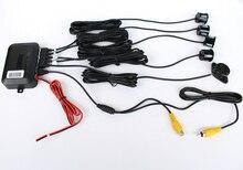 Ayuda Video Sensor De Aparcamiento Radar de Reserva Reverso Con 4 Sensores, Estacionamento Sensor Parktronic Detector de Radar Para DVD