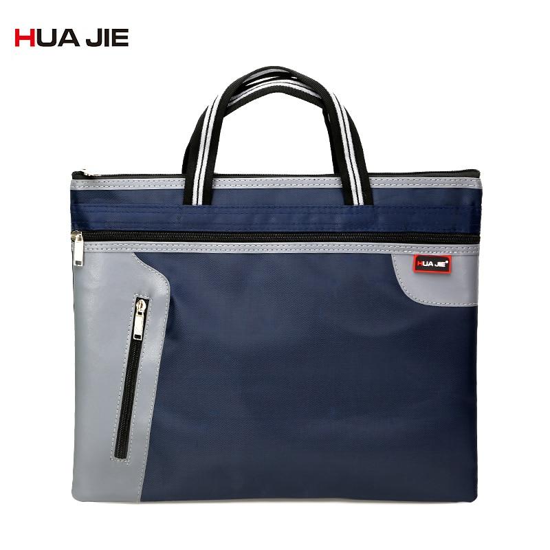 Simple Big Capacity Document File Bag B4 Business Briefcase Paper Storage Bag Office Zipper Document Bag Filing Product EN4503