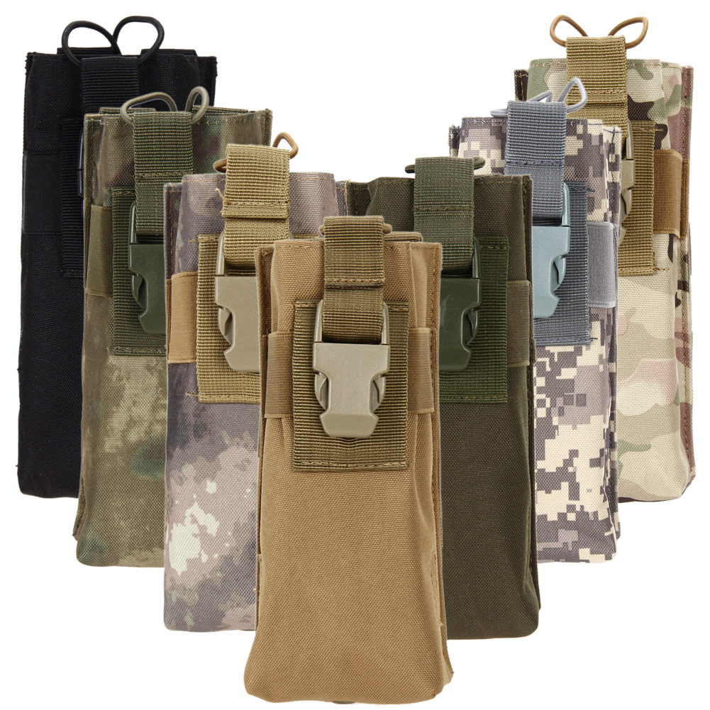 Walkie-talkie Case Package Tactical Pouch Military Radio Bag Outdoor Sport Phone Walkie Talkie Kettle Bottle Storage Bags