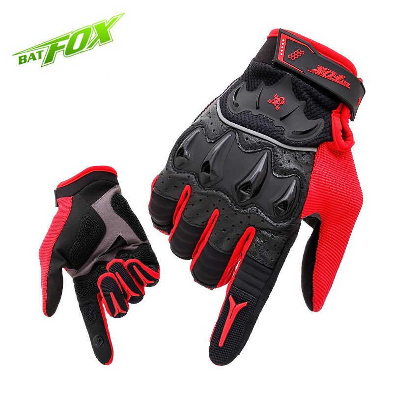 ФОТО BATFOX 2017 Hot MTB Men Cycling Full Finger Lycra Leather Anti-wear Bicycle Glove Outdoor Sports Tactical Gloves Free Shipping