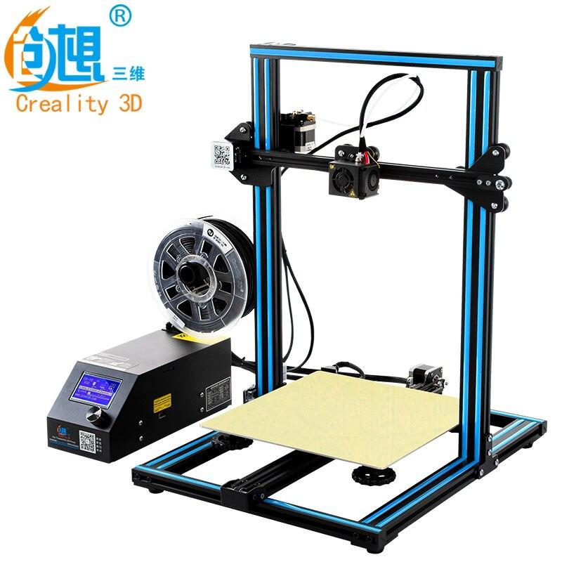 Caliente 3D impresora Creality 3D CR-10S, dua Z varilla filamento Sensor/detectar reanudar apagado 3D impresora DIY Kit