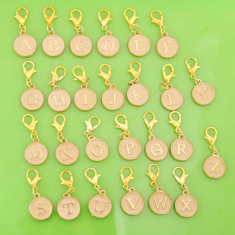 โลหะ DIY lacquer enamel ตัวอักษรเริ่มต้น letter กุ้งก้ามกราม clasp จี้สำหรับสร้อยข้อมือ/สร้อยคอ/ต่างหูเครื่องประดับ