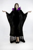 Halloween Women Black Sleeping Beauty Witch Queen Maleficent Costumes Carnival Party Cosplay Fancy Dress