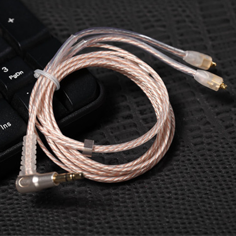 Earphone Cable MMCX 8 core Silver and Copper Mixed Earphone Upgrade Cable Replacement For Shure SE535 SE846 UE900 Headphone Wire