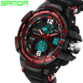 SANDA Hot Sale Men Military Watch LED Digital G Style Watch Fashion Multifunction Army Wristwatches Sports Watches