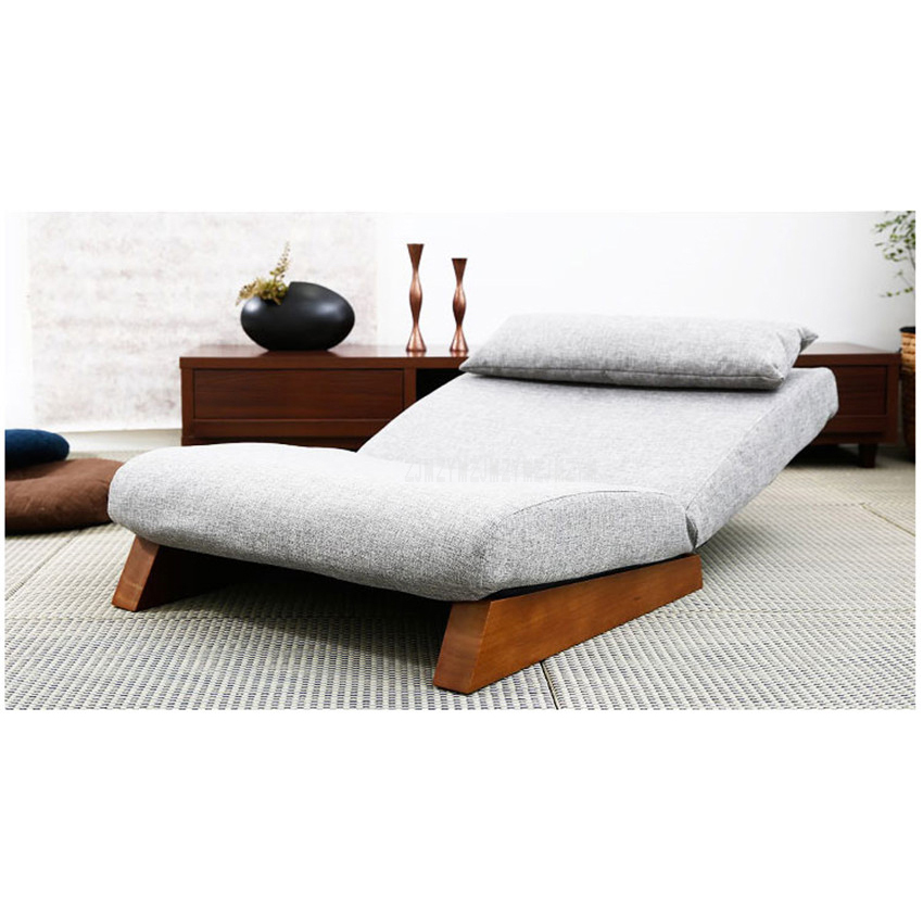 floor folding single seat sofa bed modern fabric japanese living rh aliexpress com Foot of Bed Seat Foot of Bed Seat