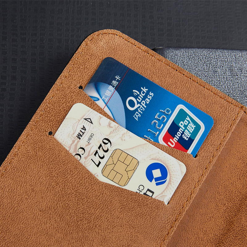 Lyxig PU-läderplånbok för General Mobile 5 Plus GM 5 Plus - Reservdelar och tillbehör för mobiltelefoner - Foto 3