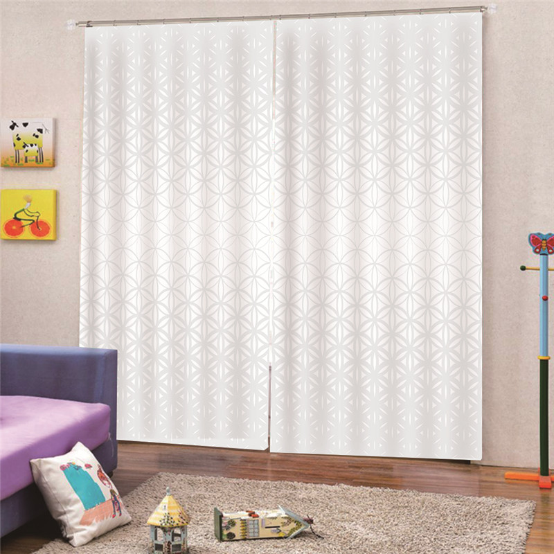 3d Digital Print White Blackout Curtain Drape Panel Noise Reducing Thermal Insulated Window For Living Room Decor Draps Ap23 Curtains