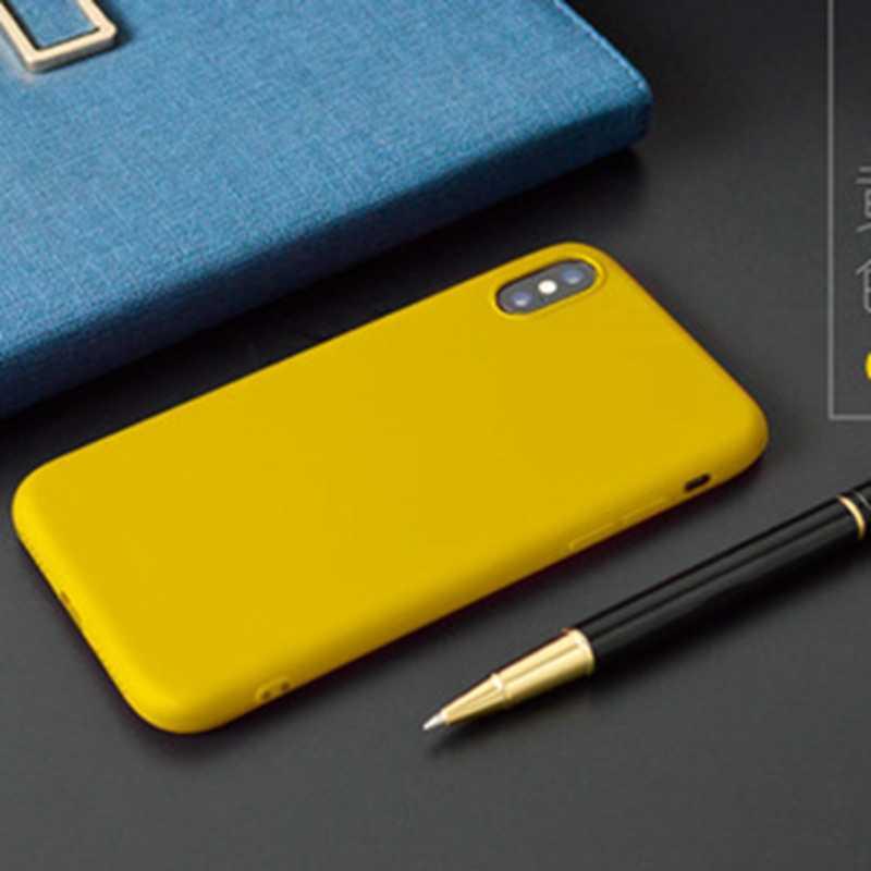 Zwykła miękka kolorowa obudowa telefonu dla iphone XR XSMAX silikonowa obudowa tpu dla iphone 7 8 6 6S Plus X XS 10 obudowa obudowa odporna na wstrząsy Capa