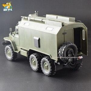 Image 2 - WPL B36 масштаб 1:16 Радиоуправляемый автомобиль 2,4G 6WD военный грузовик гусеничный автомобиль управления и связи RTR игрушка Carrinho de Control