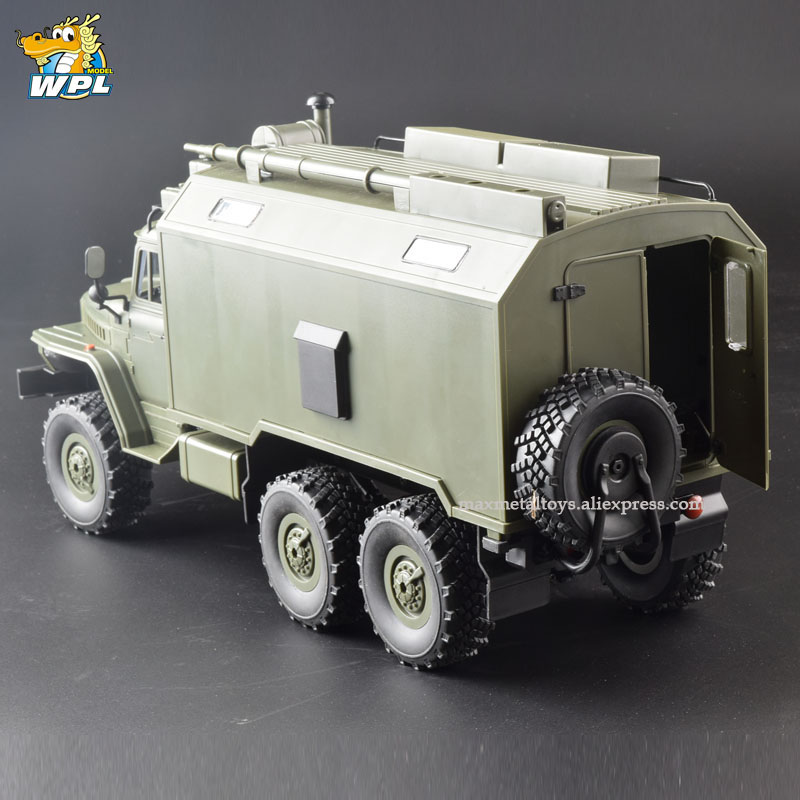 WPL B36 1:16 RC Car 2.4G 6WD Military Truck Crawler Command Communication Vehicle RTR Toy Carrinho de controle-in RC Cars from Toys & Hobbies    2