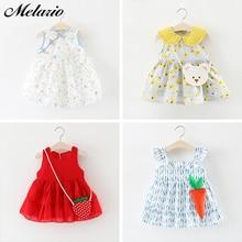 Melario Baby Girls Dress New Summer Baby Print Design Clothing Cute Carrot Decoration Dress Cotton Girls baby Party Dress