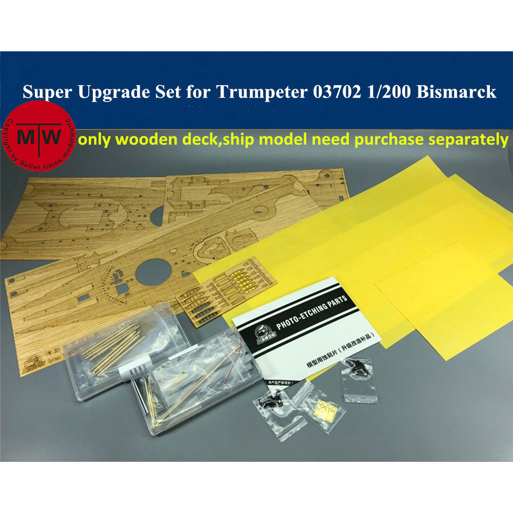 1/200 Scale Super Upgrade Set for <font><b>Trumpeter</b></font> 03702 Bismarck Ship Model Kit image