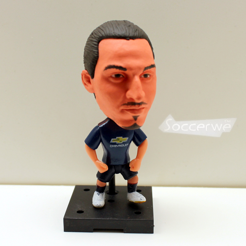 Soccerwe+ Soccer Player Dolls 9# IBRAHIMOVIC (MU +Blue +2017) 2.5 Movable Figurine ...