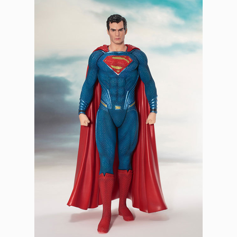 19CM Superman Man of Steel PVC Action Figure Collectible Model Toys for kids gift high quality japanese amine fs good smile goodsmile bakemonogatari oshino shinobu 19cm pvc action figure model toys gift