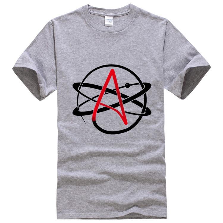 Atheist Symbol T Shirt Men 2017 New Short Sleeve Cotton Tops T Shirt