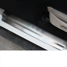 Lsrtw2017 Stainless Steel Car Door Sill Trims for Mitsubishi Pajero Sport Montero 2008 2009 2010 2011 2012 2013 2014 2015 2016