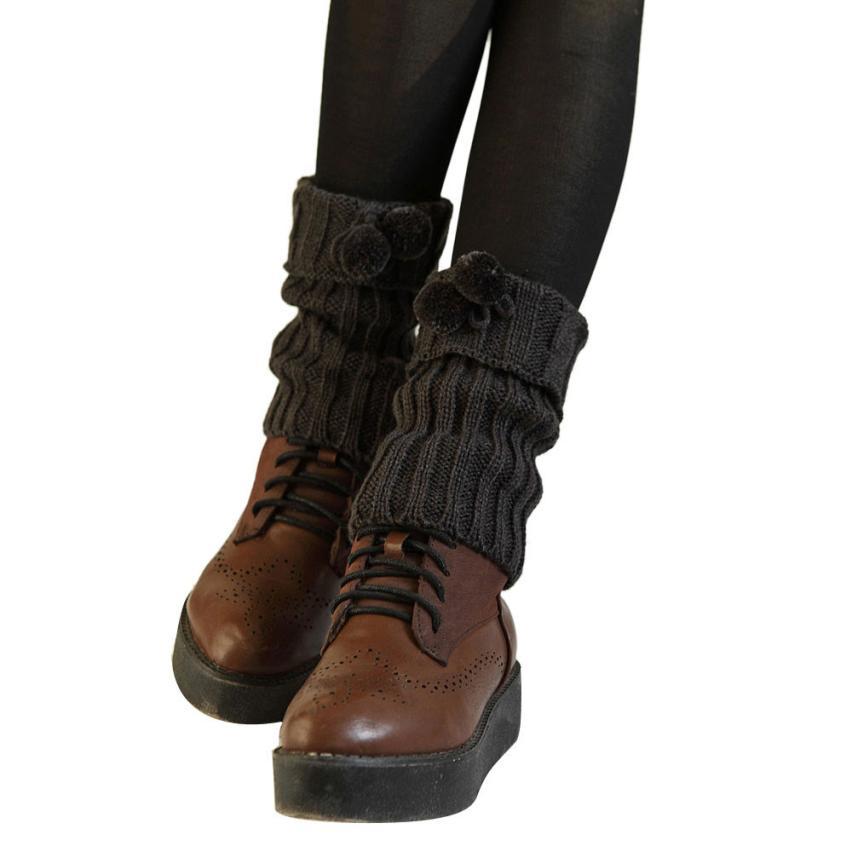 Winter Autumntwist Gestrickte Wärmer Socken Boot Abdeckung Solide Boot Manschetten Calentadores Piernas Mujer Kostenloser Versand Unterwäsche & Schlafanzug