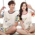 Ventas! Pareja de Algodón de verano Pijama de Mujer/Mujeres Camo Shorts Ropa de Dormir Plus XXXL Salón Amante Pijama Pijamas de Los Hombres