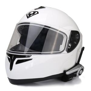 Image 5 - 2pcs T Rex Full Duplex Motorcycle Group Talk System 1500M 8 Riders BT Interphone Bluetooth Helmet Intercom Headset + FM Radio