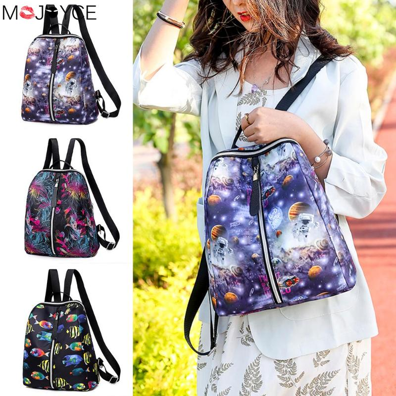 Women Fashion Backpack  Printing Travel Backpacks Women Oxford Cloth School Bags Casual Knapsack Girl Oxford Cloth School Bag