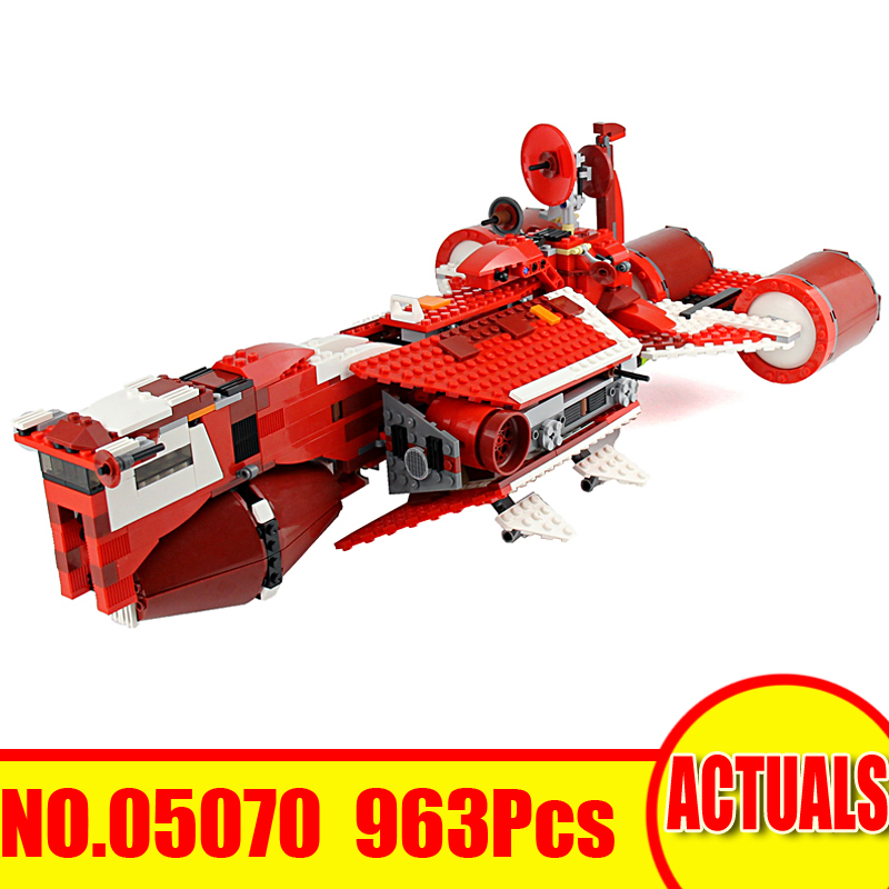 Lepin 05070 963Pcs Star Wars Model Building Kit Republic Cruiser Figures Blocks Bricks Set Toy For Children Compatible Gift 7665 цена