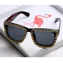 2016 Newest Luxury Brand Designer Sunglasses Women Shiny AB Diamond Men Sun Glasses Elegant Lady Eyewear Female Shades