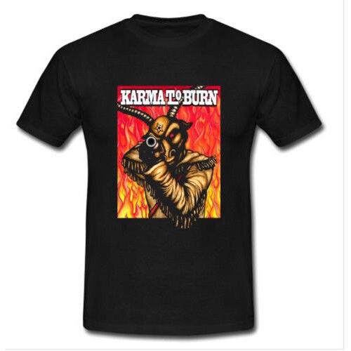 KARMA TO BURN TOUR Tshirt Black New Mens T-shirt Size S to 3XL Men Print Cotton O Neck Shirts top tee