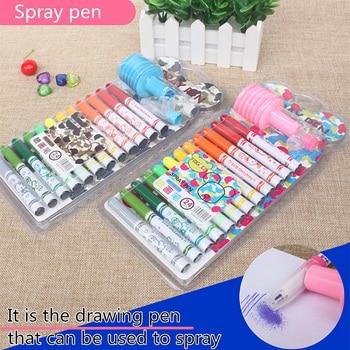 ZYCC 12/24 Kolory/zestaw Premium Markery Artystyczne Kolor Wody Spray Pen dla Dzieci Malowanie prezent