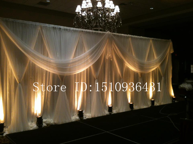 Buy 3 6m beautiful party decoration for Background curtain decoration