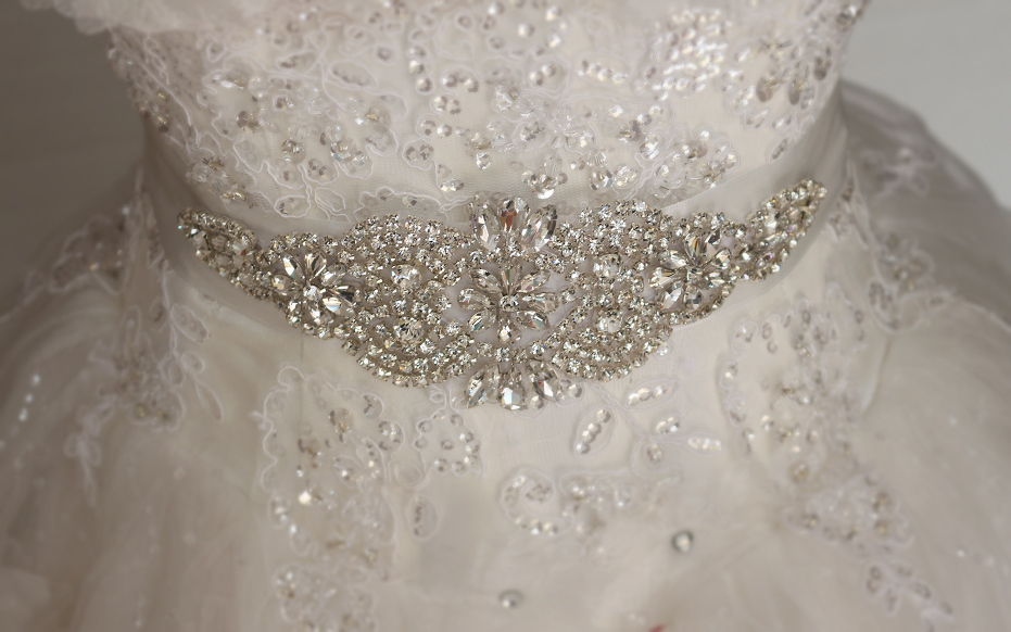 Bridal gown belt, wedding gown Sash, luxury diamond belt, Sash ...