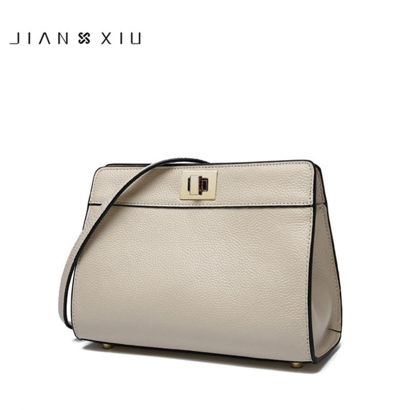 IANXIU Brand luxury Genuine Leather Women Messenger Bags Shoulder Crossbody Bag 2017 New Fashion cow leather Flap bag female 100% genuine leather women bags luxury serpentine real leather women handbag new fashion messenger shoulder bag female totes 3