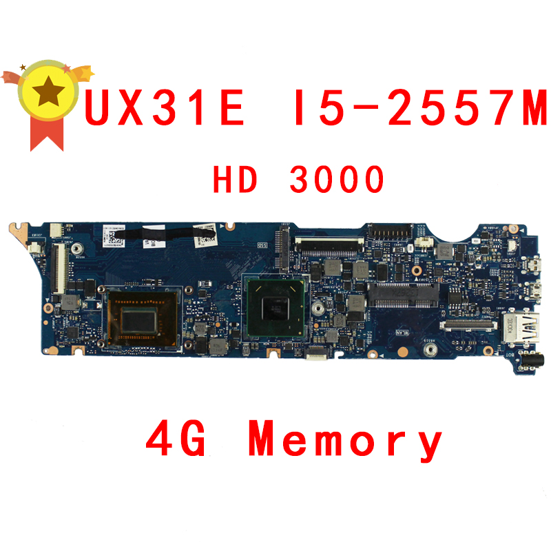 For Asus UX31E Laptop motherboard with i5-2557M 2.3Ghz CPU 4GB RAM On Board Memory maiboard fully tested working well power board for 90y4873 00d4060 00d4059 00d3264 dx360m4 well tested working