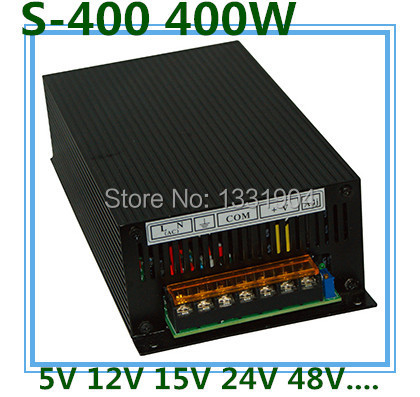 LED switching power supply S-400,400W single phase output,AC input, output voltage 5V,12V.15V,24V transformer can be selected
