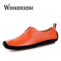 New Fashion British Women Genuine Leather Shoes Spring Autumn Casual Cow Split Flat Platform Loafers Flats