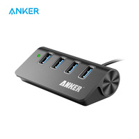 Anker-Hub DE ALUMINIO portátil con 4 puertos USB 3,0, Cable USB 3,0 de 2 pies (carbono)