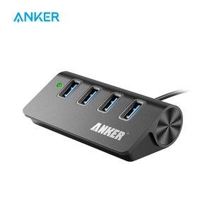 Anker USB 3,0 4-портовый алюминиевый концентратор с 2-футовым кабелем USB 3,0 (углеродный)