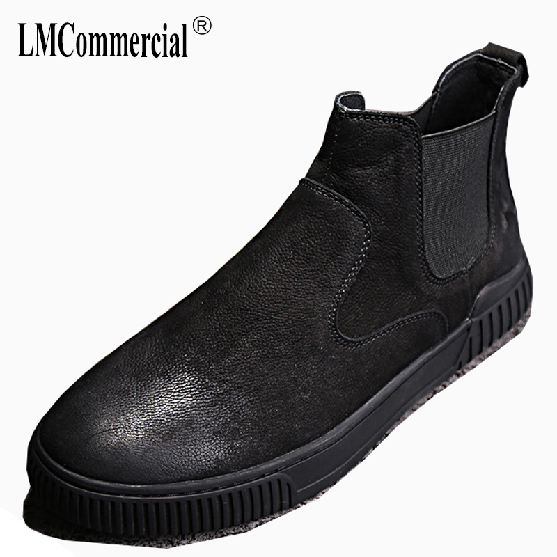 Martin boots autumn winter British retro men shoes all-match cowhide Genuine Leather breathable sneaker fashion Chelsea boots 2017 new autumn winter british retro zipper leather shoes breathable sneaker fashion boots men casual shoes handmade