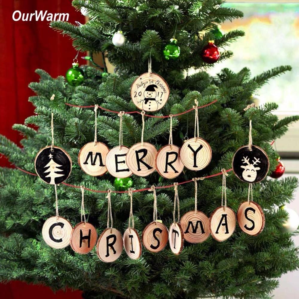 Christmas Tree Decorations Aliexpress: Ourwarm 20pcs Christmas Tree Hanging Ornaments 5 6cm Round