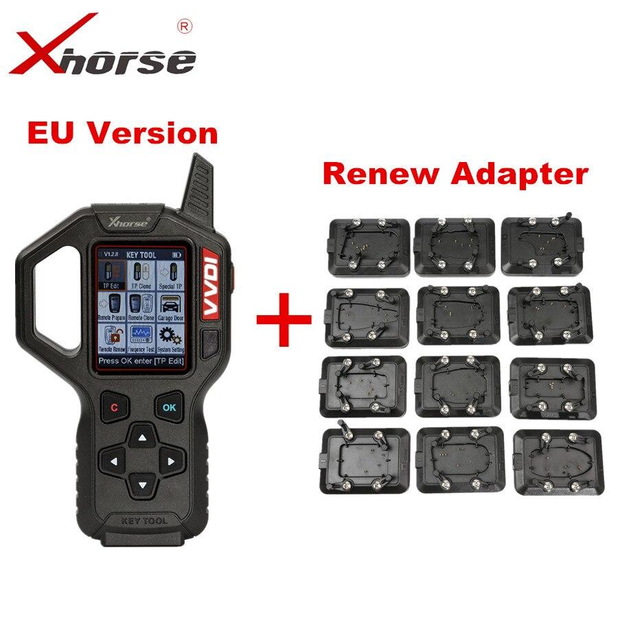 Original Xhorse VVDI Key Tool Remote Key Programmer EU Version With Full Set 12pcs EEPROM Adapter VVDI Key Tool Renew Adapter