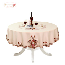 Elegant Round Table Cloth Fashion Embroidery Fabric Art Tablecloth Modern Rural Style Round Tablecloth free shipping