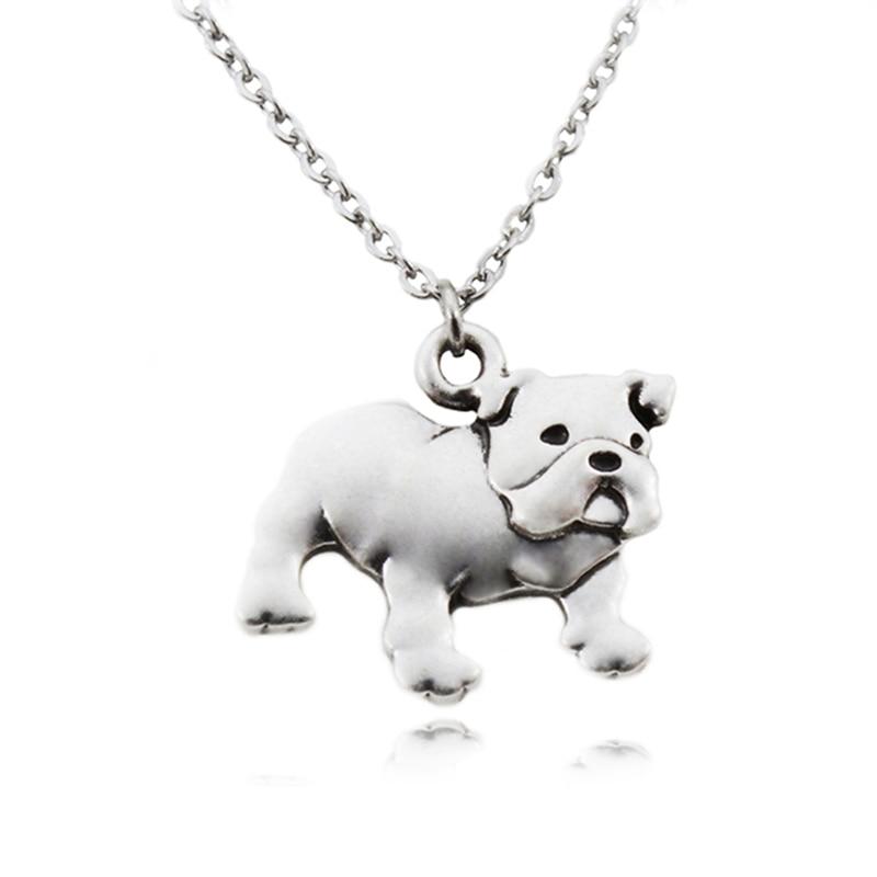 Fei Ye Paws Punk angleški buldog pes Obesek za ogrlice za ženske - Modni nakit - Fotografija 2