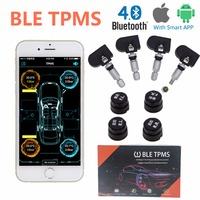 NEW BLE TPMS Bluetooth 4 0 Tyre Tire Pressure Monitoring System APP Display 4 Internal External