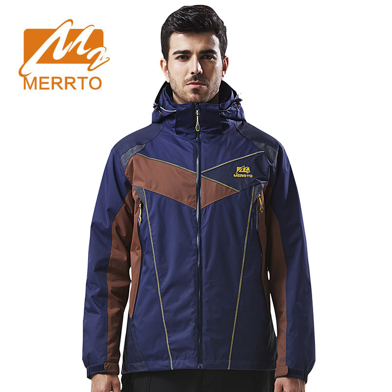 MERRTO Winter Waterproof Warm Outdoor Jacket Men Skiing Trekking Hiking Jackets Fishing Travel Quick Drying Windproof Sportswear